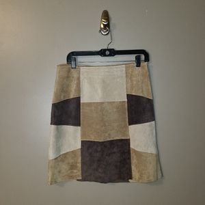 🐠3/$25 Limited Too Patchwork suede leather skirt